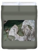 Etched Rock Water 5 Duvet Cover