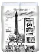 Etched Vegas Duvet Cover