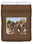 Ethiopia-south Three Moms And Their Kiddos Duvet Cover
