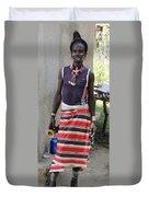 Ethiopia-south Tribesman No.3 Duvet Cover