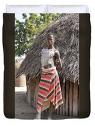 Ethiopia-south Tribesman Teenager No.1 Duvet Cover