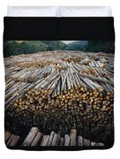 Eucalyptus Stacked Lumber Duvet Cover