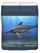 Eurhinosaurus Longirostris Swimming Duvet Cover