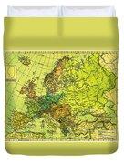 Europe Map Of 1911 Duvet Cover