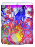 Even In Chaos Find Love Duvet Cover