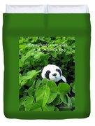 Even Pandas Are Irish On St. Patrick's Day Duvet Cover