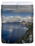 Evening At Crater Lake Panorama Duvet Cover
