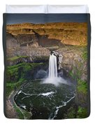 Evening At Palouse Falls Duvet Cover
