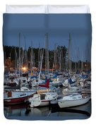Evening At The Marina Duvet Cover