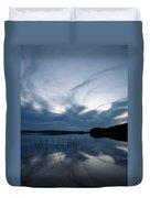 Evening Clouds Over Haukkajarvi Duvet Cover