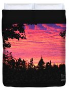 Evening In Paradise Painterly Style Duvet Cover