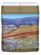 Evening In The Painted Hills Duvet Cover