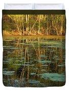 Evening Light On Missouri Pond 2 Duvet Cover