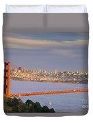 Evening Over San Francisco Duvet Cover