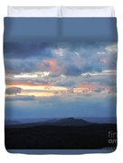 Evening Sky Over The Quabbin Duvet Cover by Randi Shenkman