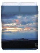 Evening Sky Over The Quabbin Duvet Cover