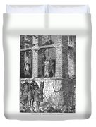 Execution Of Heretics Duvet Cover