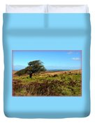 Exmoor's Heather-covered Hills Duvet Cover