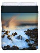Explosive Dawn Duvet Cover by Mike  Dawson