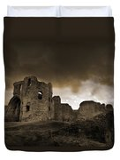 Exterior Of The Ruins Of Denhigh Castle Duvet Cover