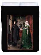 Eyck: Arnolfini Marriage Duvet Cover