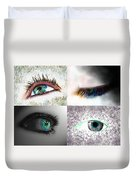 Eye Art Collage Duvet Cover