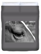 Eye Of The Horse Black And White Duvet Cover