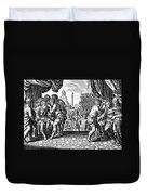 Eye Surgery, Historical Engraving Duvet Cover