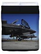 F-35b Lightning II Variants Are Secured Duvet Cover