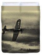 F4u Corsair In Sepia Duvet Cover