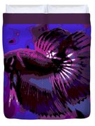 Fabulous Fins Duvet Cover by George Pedro