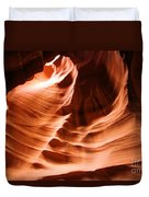 Face In The Canyon Duvet Cover