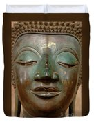 Face Of Bronze Buddha  Duvet Cover