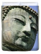 Face Of The Daibutsu Or Great Buddha Duvet Cover