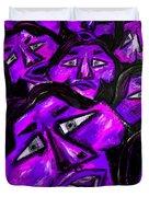 Faces - Purple Duvet Cover