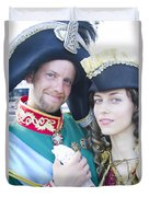 Faces Of St. Petersburg Duvet Cover
