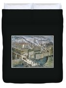 Factories: England, 1879 Duvet Cover