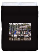 Fairhope Yacht Club Sailboat Masts Duvet Cover