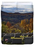 Fairview Cemetery In Autumn Duvet Cover
