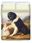 Faithful Friends Duvet Cover by English School