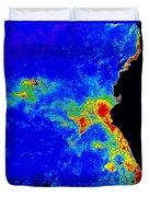 Fal-col Satellite Image Of Coastal Duvet Cover