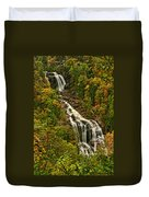 Fall At Whitewater Falls  Duvet Cover