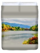 Fall Color At Sand Creek Duvet Cover