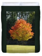 Fall Colored Tree Duvet Cover