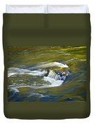 Fall Colors In River Rapids Duvet Cover