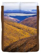Fall Colours Along Top Of The World Duvet Cover