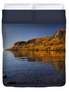 Fall Colours In The Squaw Bay II Duvet Cover