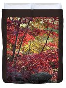 Fall Comes To New England Duvet Cover