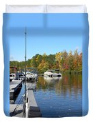 Fall Fishing Break Duvet Cover