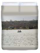 Fall Fishing Duvet Cover